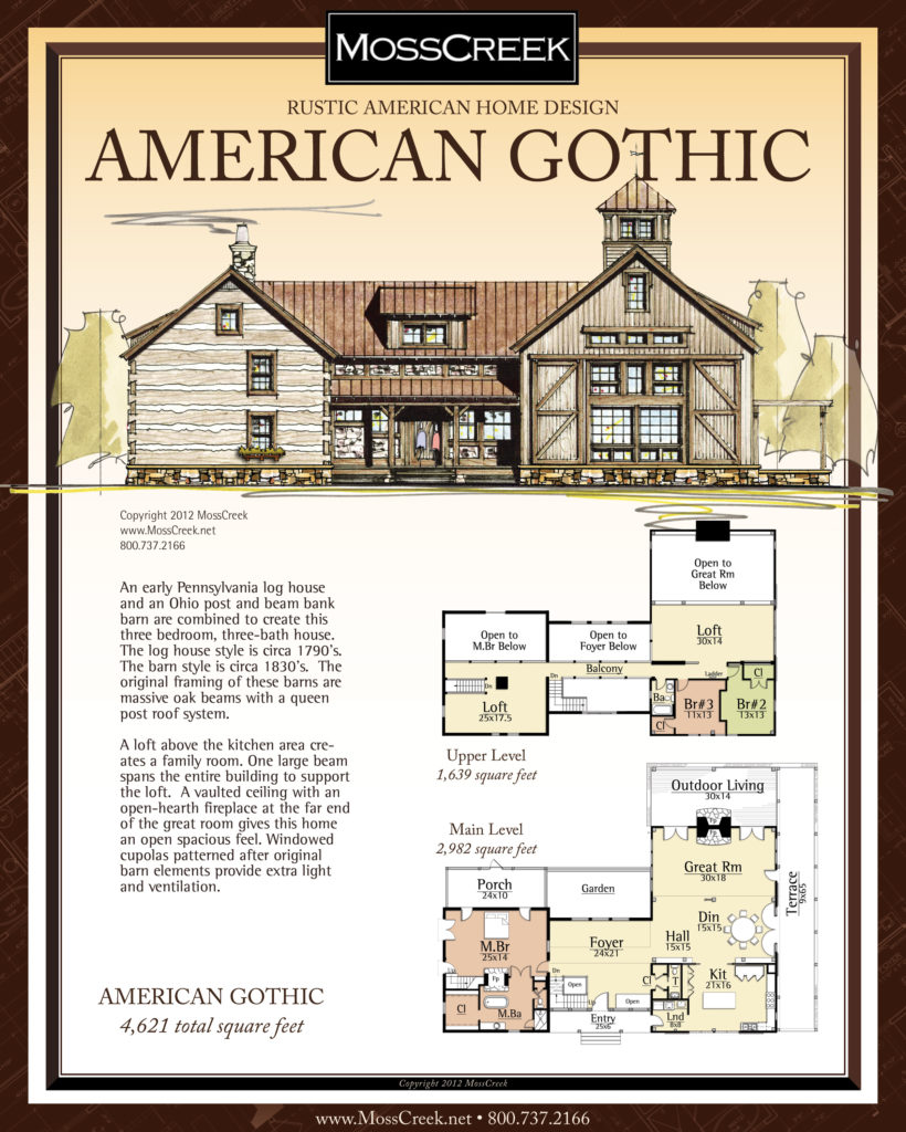 MossCreek American Gothic floor plan