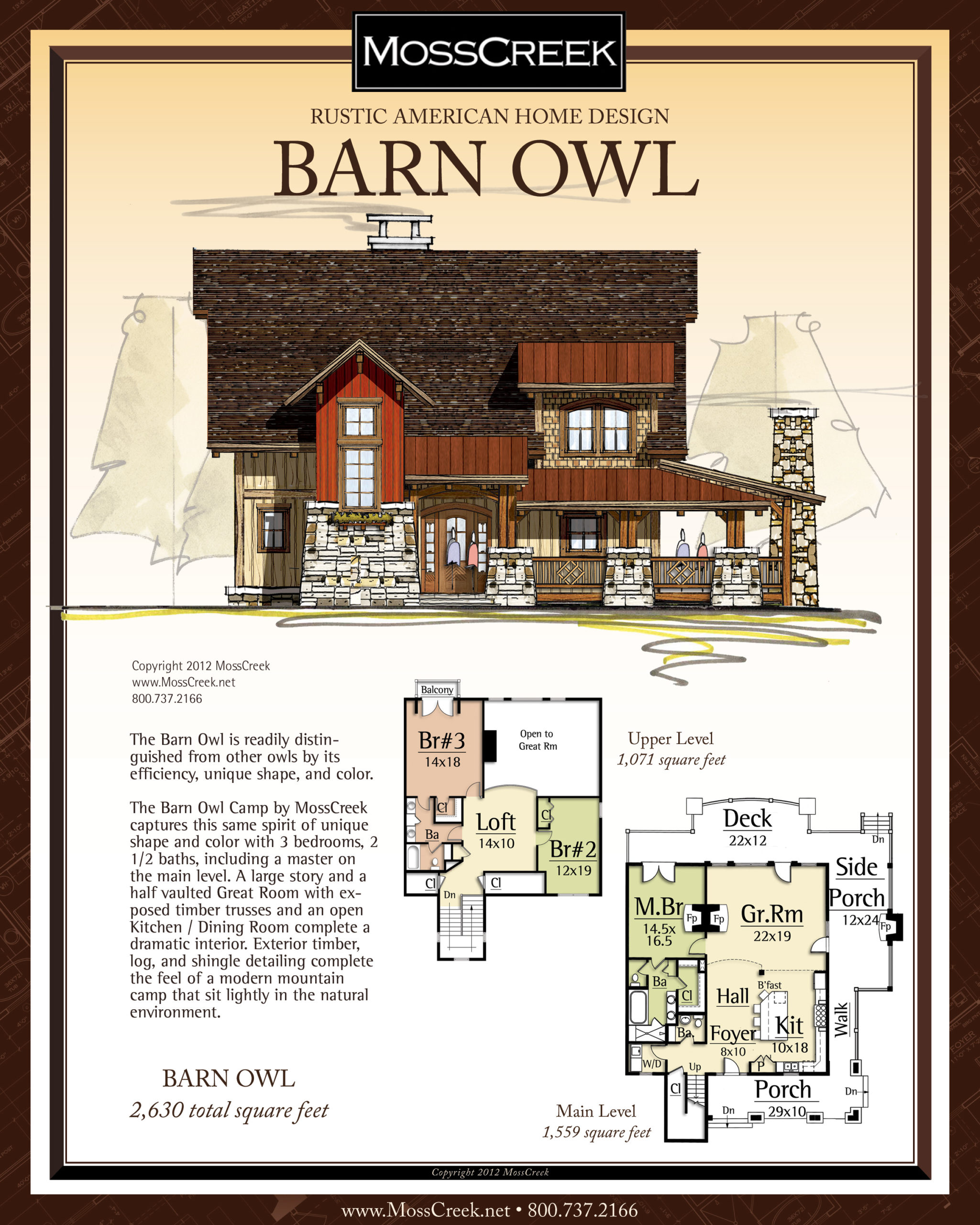 MossCreek Barn Owl floor plan