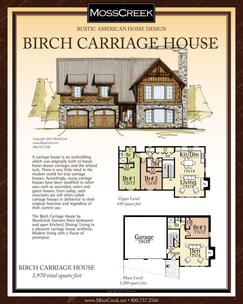 MossCreek Birch Carriage Hosue floor plan
