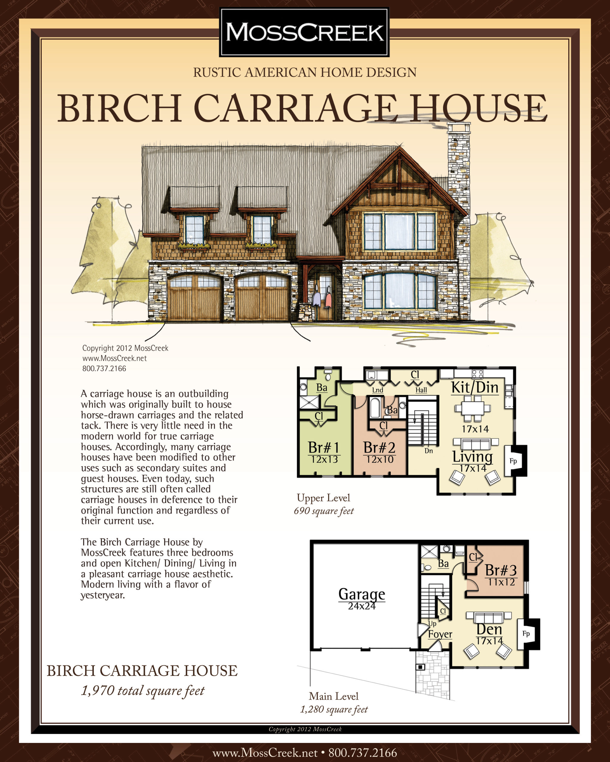 MossCreek Birch Carriage Hosue floor plan