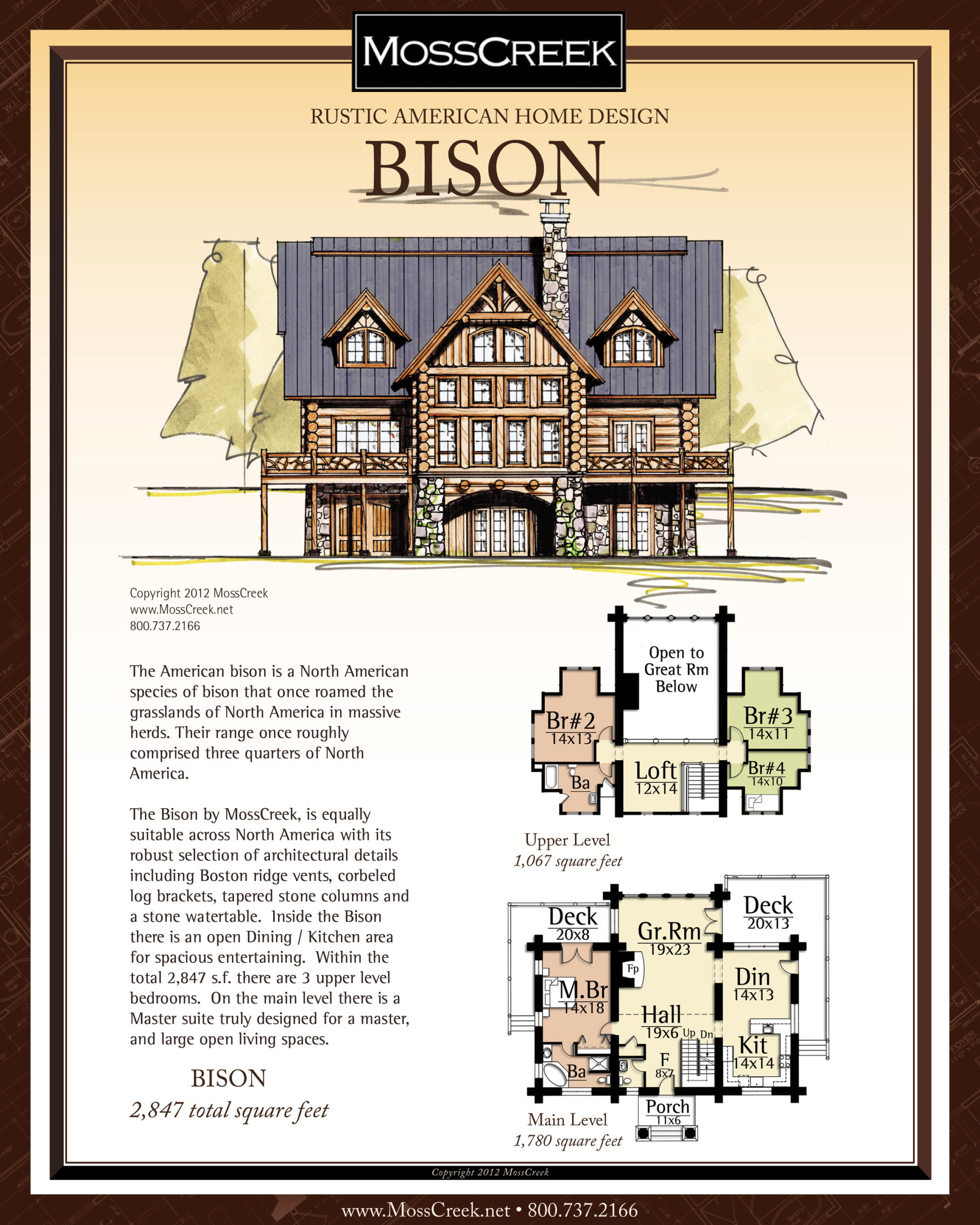 MossCreek Bison floor plan