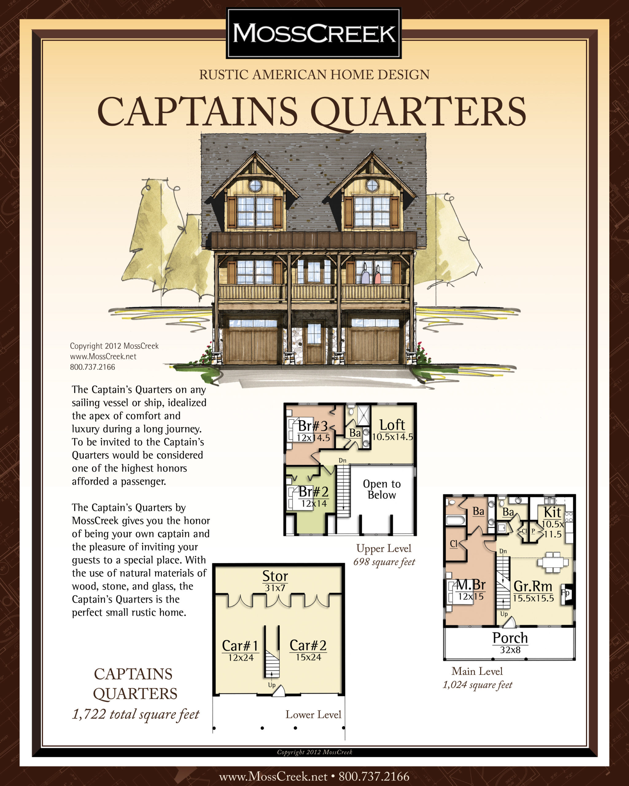 MossCreek Captains Quarters floor plan