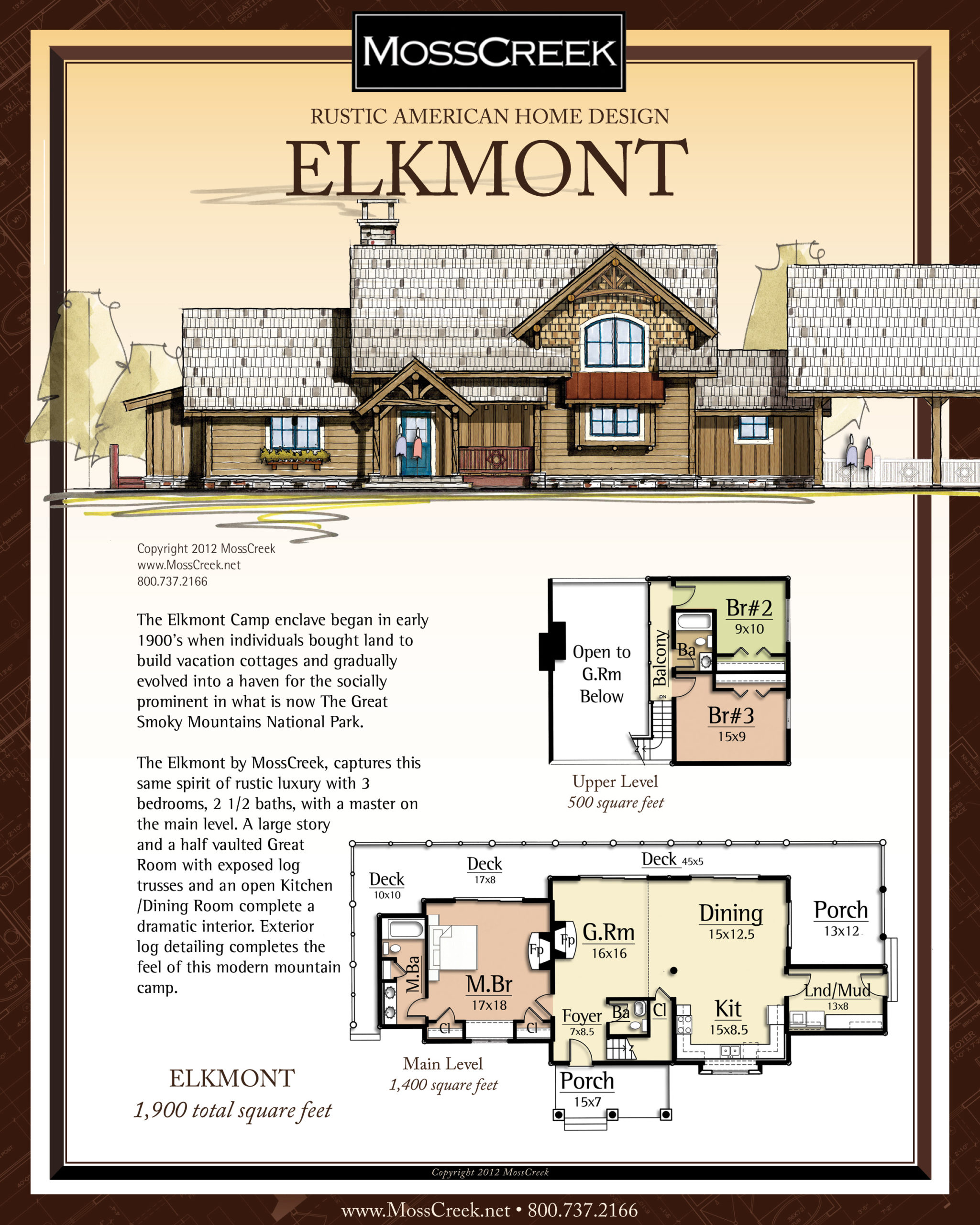 MossCreek Elkmont floor plan