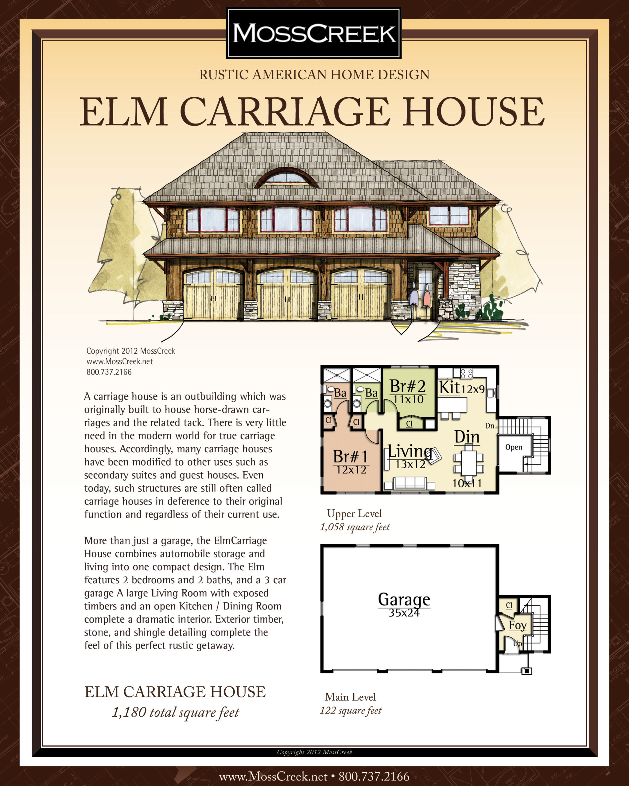 MossCreek Elm Carriage House floor plan