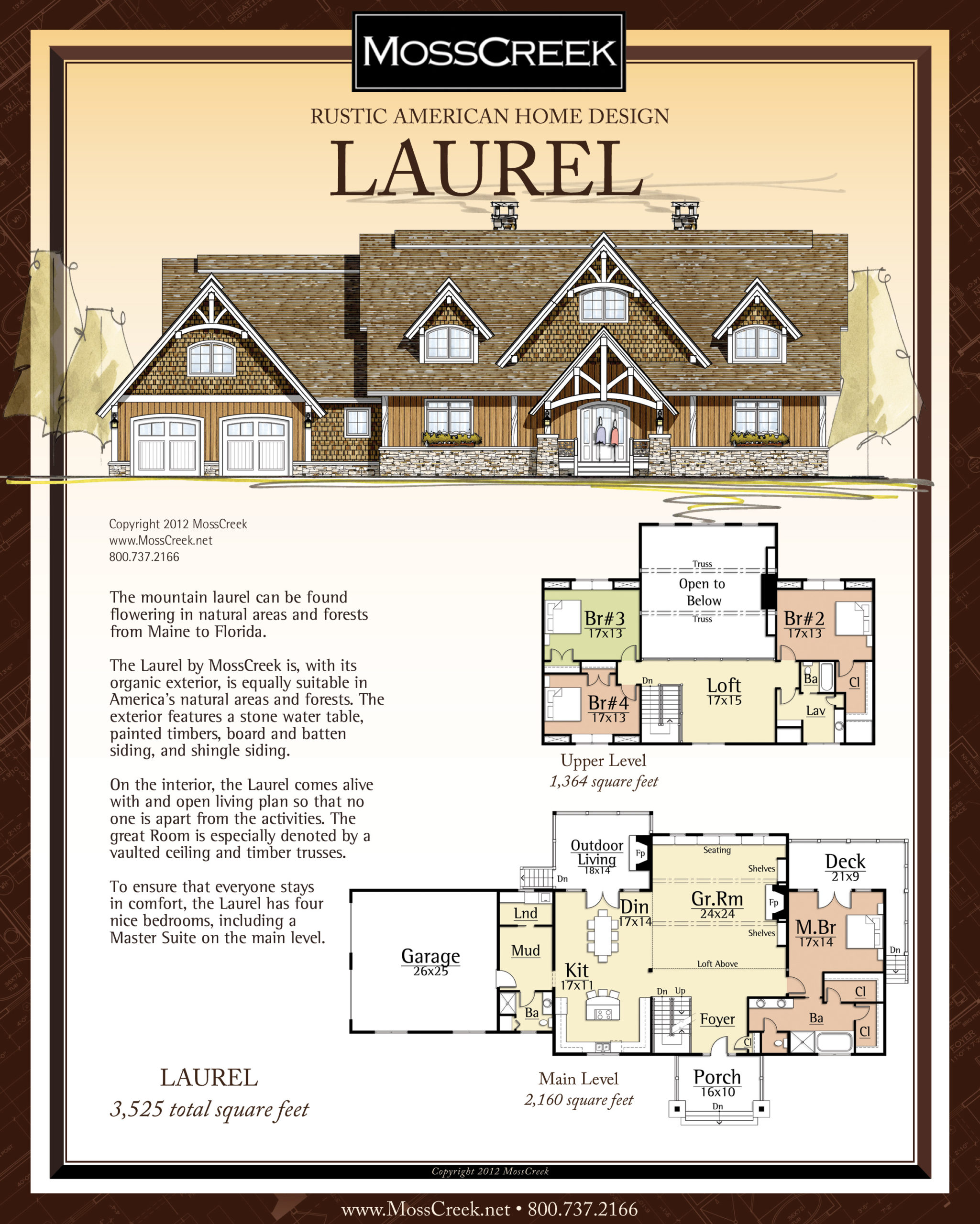 MossCreek Laurel floor plan