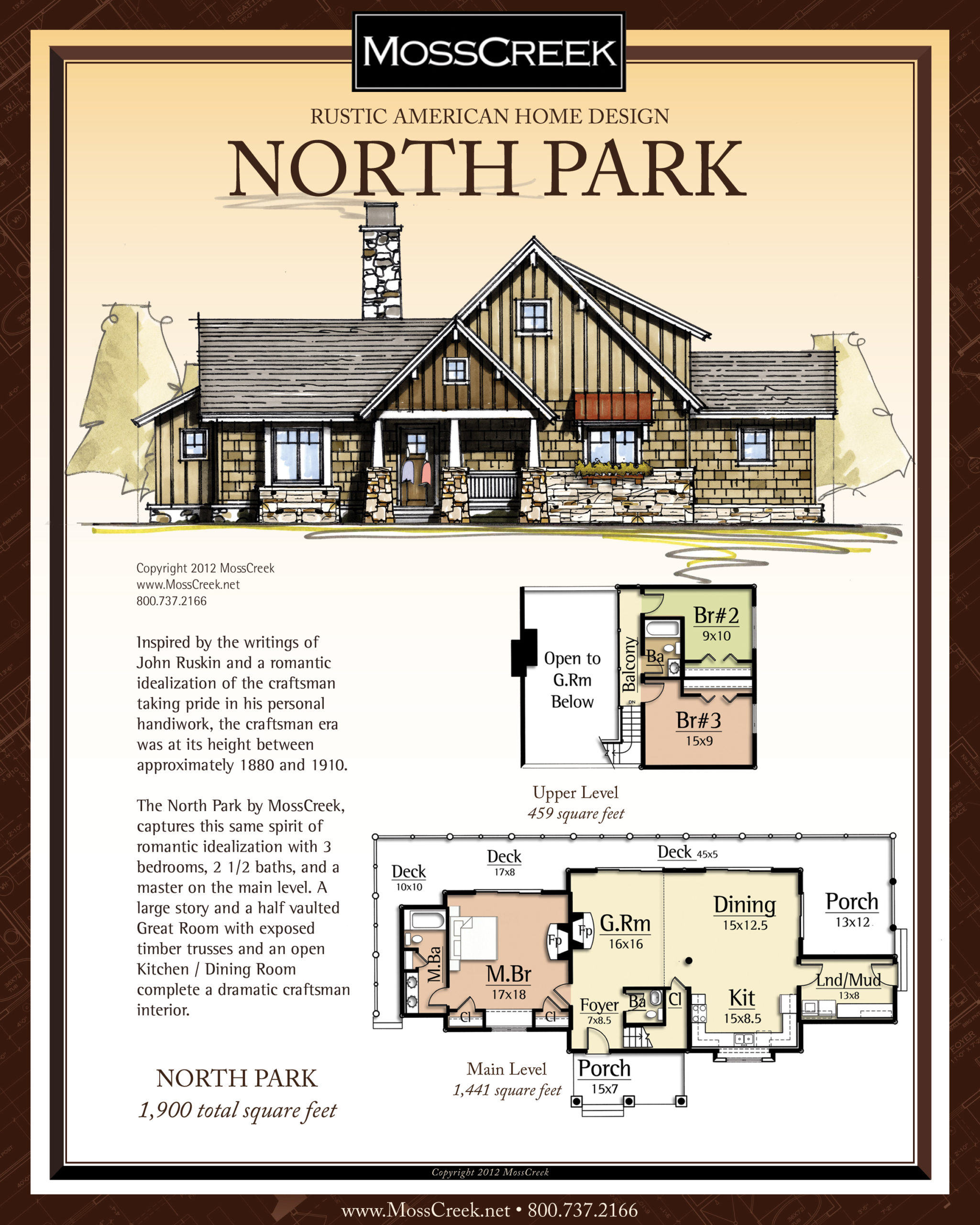 MossCreek North Park floor plan