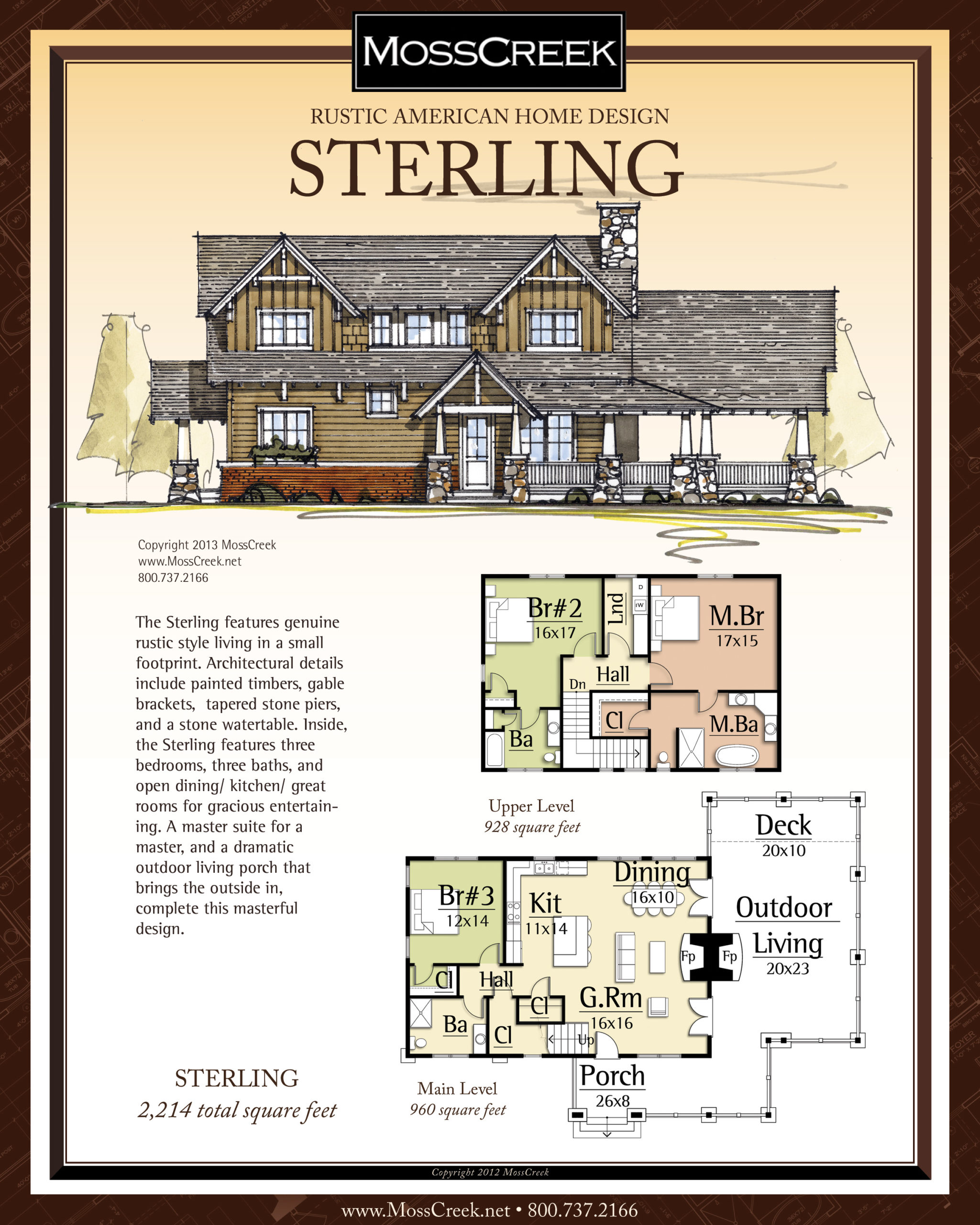 MossCreek Sterling floor plan