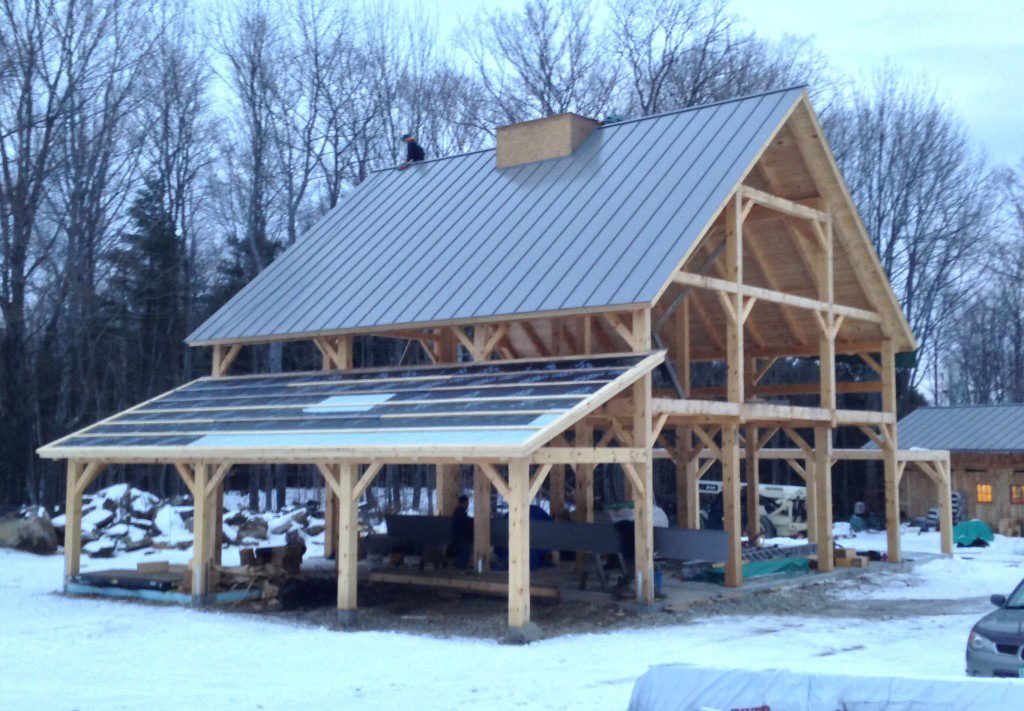 Timber frame structure of a barn