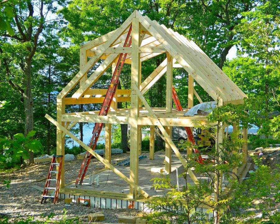 Timber frame camp structure