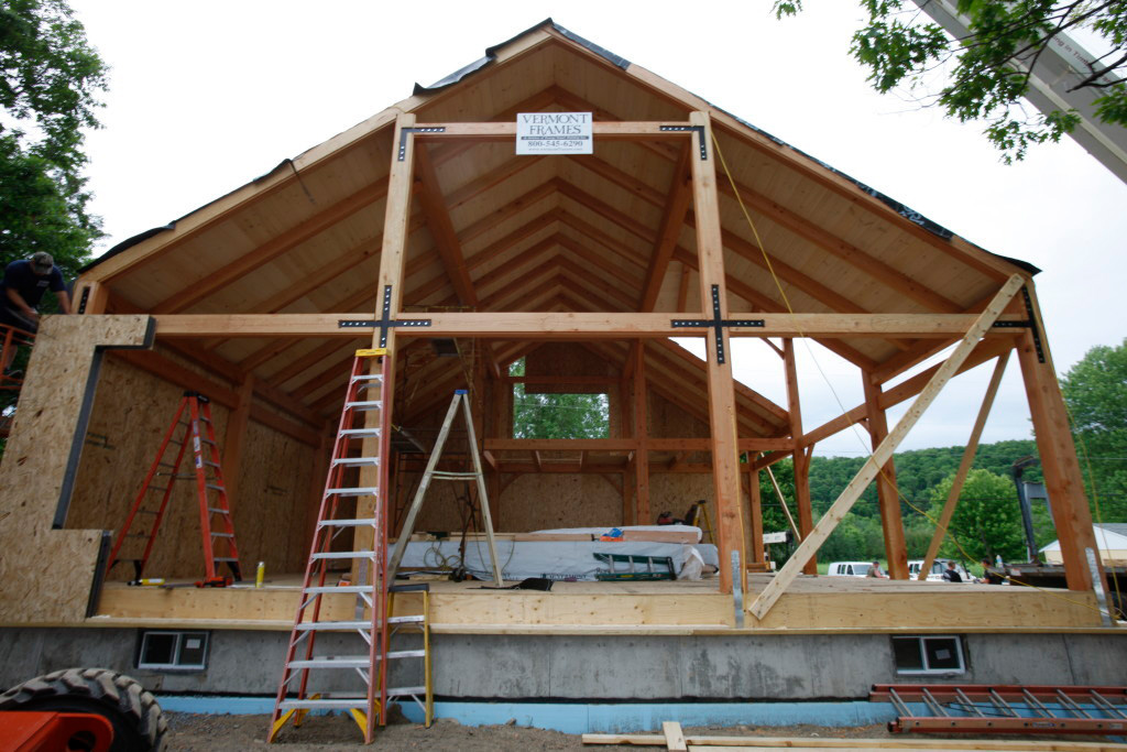 Timber frame cape structure