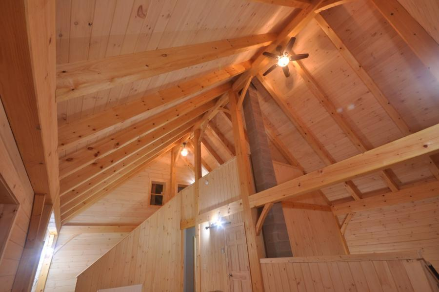 Ceiling in a timber frame colonial