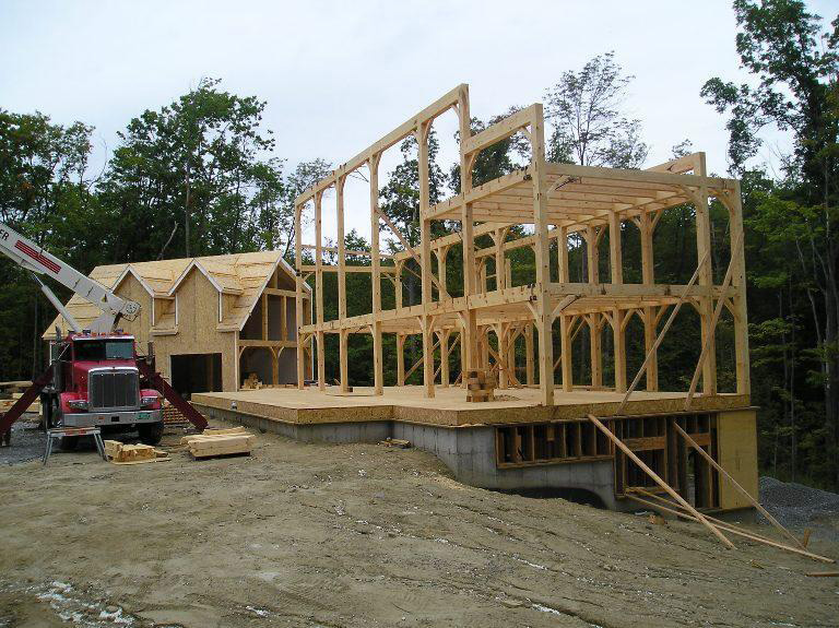 Timber frame structure of a colonial