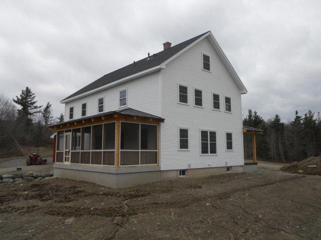 Finished exterior of a timber frame colonial