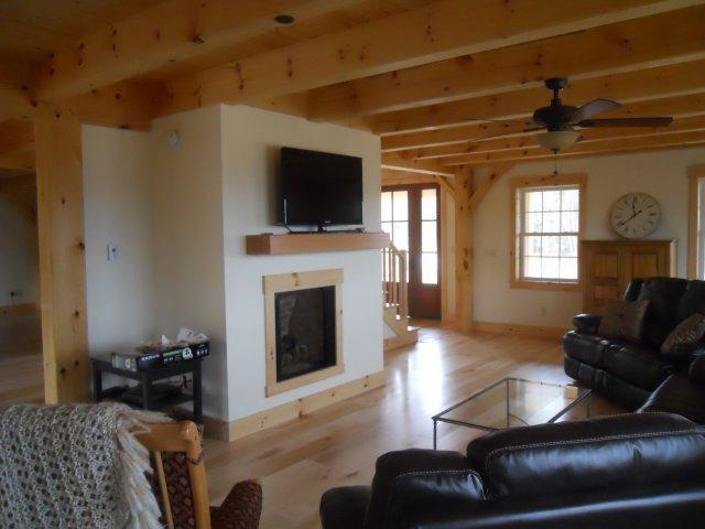 Living room in a timber frame colonial
