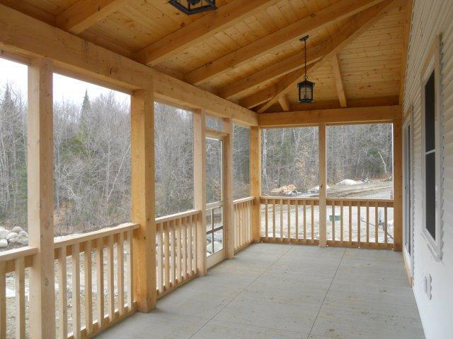 Front porch on a timber frame colonial