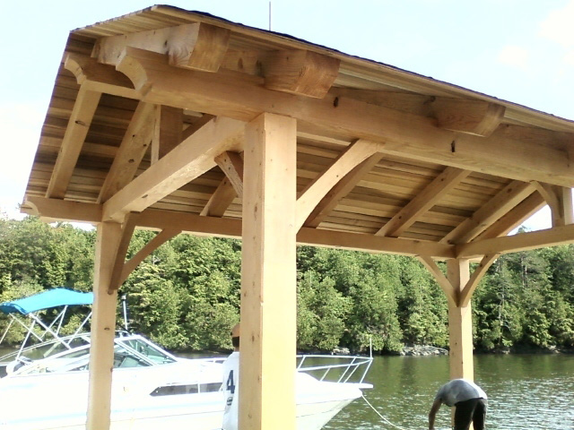 Timber frame structure of a pavilion