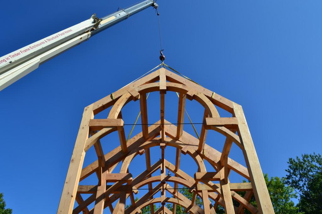 Timber frame truss
