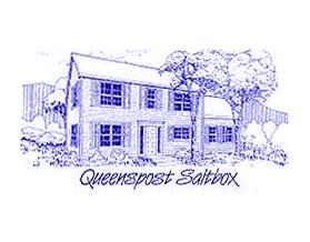 Queenspost Saltbox line drawing