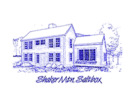 Shaker Mt. Saltbox line drawing