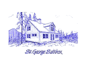 St. George Saltbox line drawing