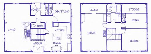 St. George Saltbox floor plan
