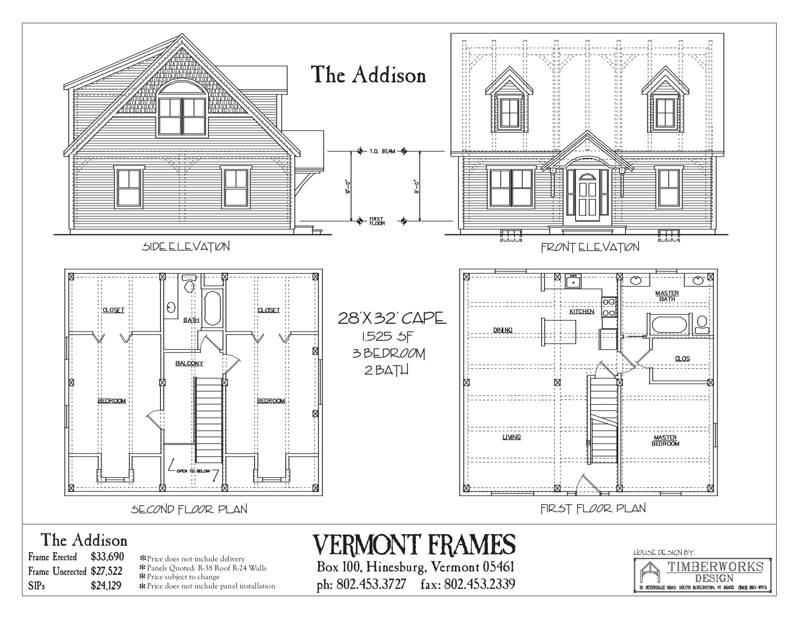 Addison Cape floor plan