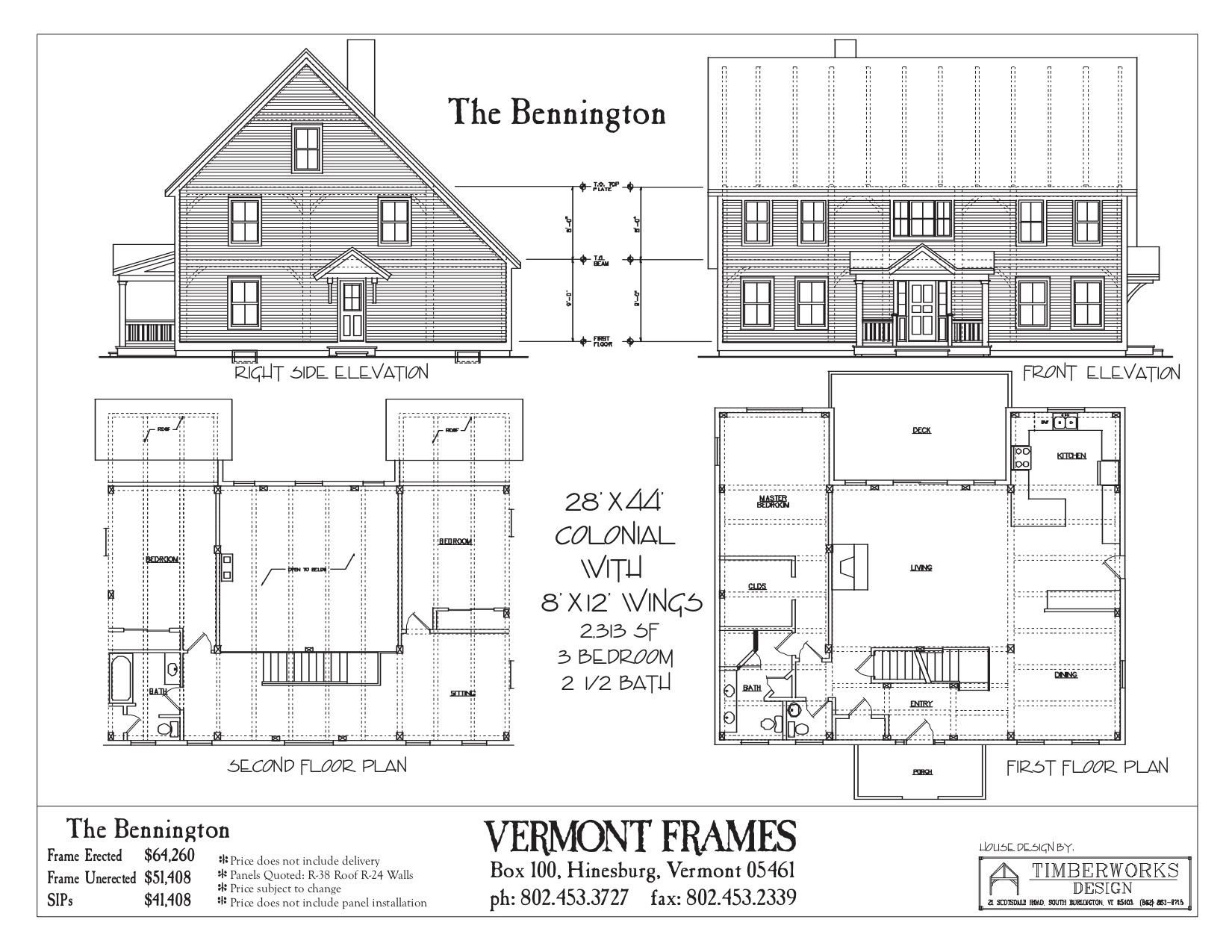 Bennington Colonial floor plan