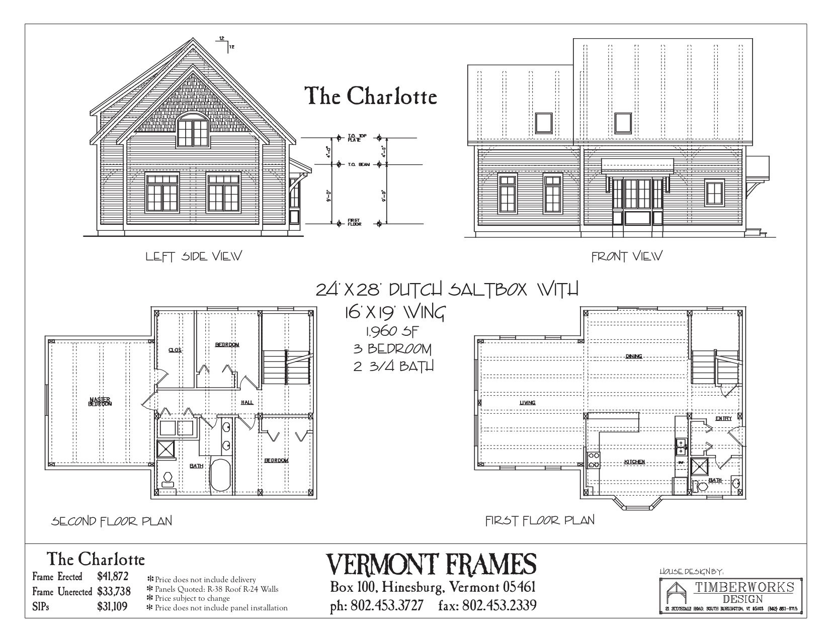 Charlotte Dutch Saltbox floor plan