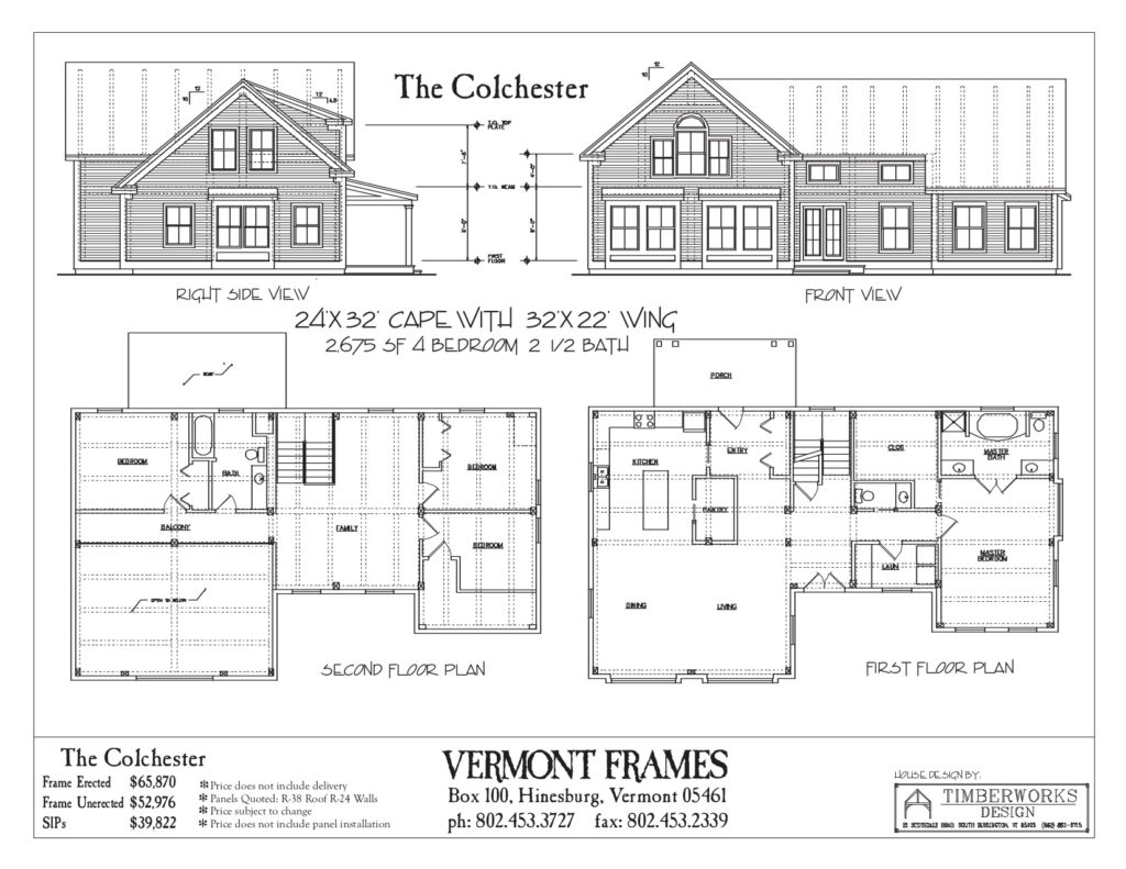 Colchester Cape with Wing floor plan