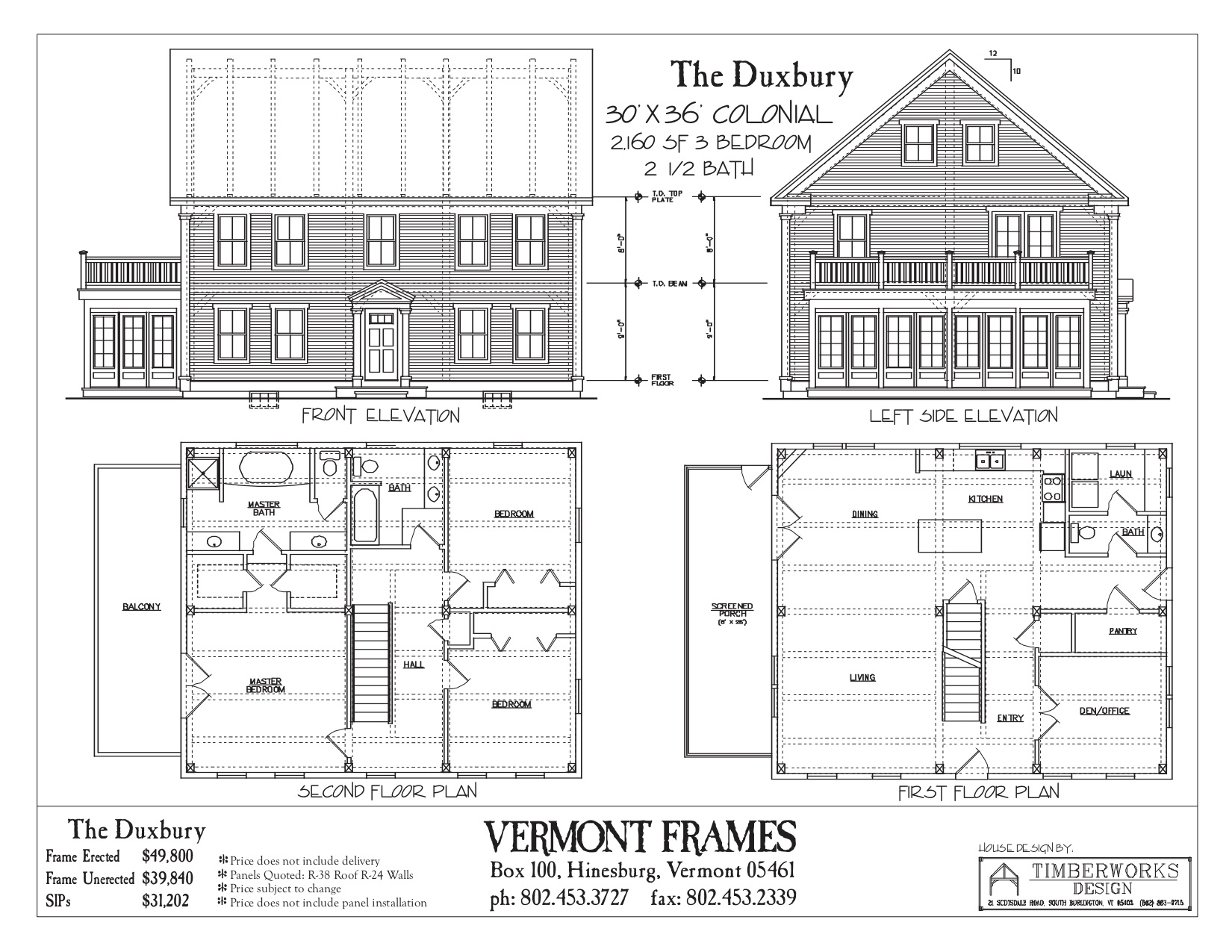 Duxbury Saltbox floor plan