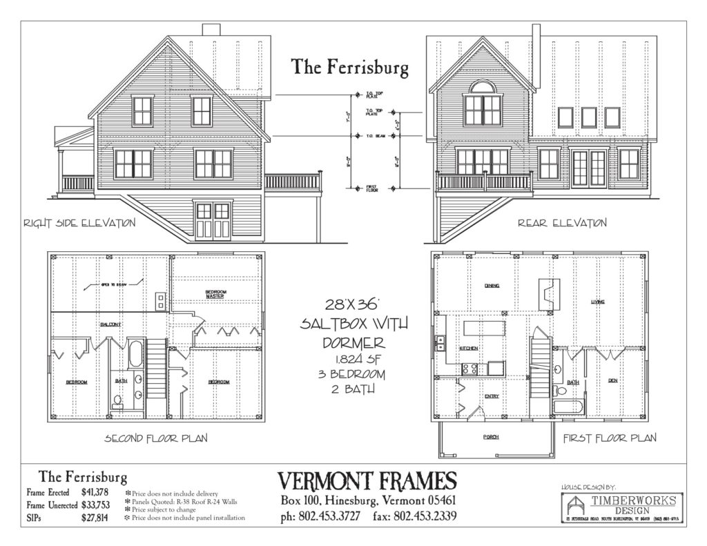 Ferrisburg Saltbox floor plan