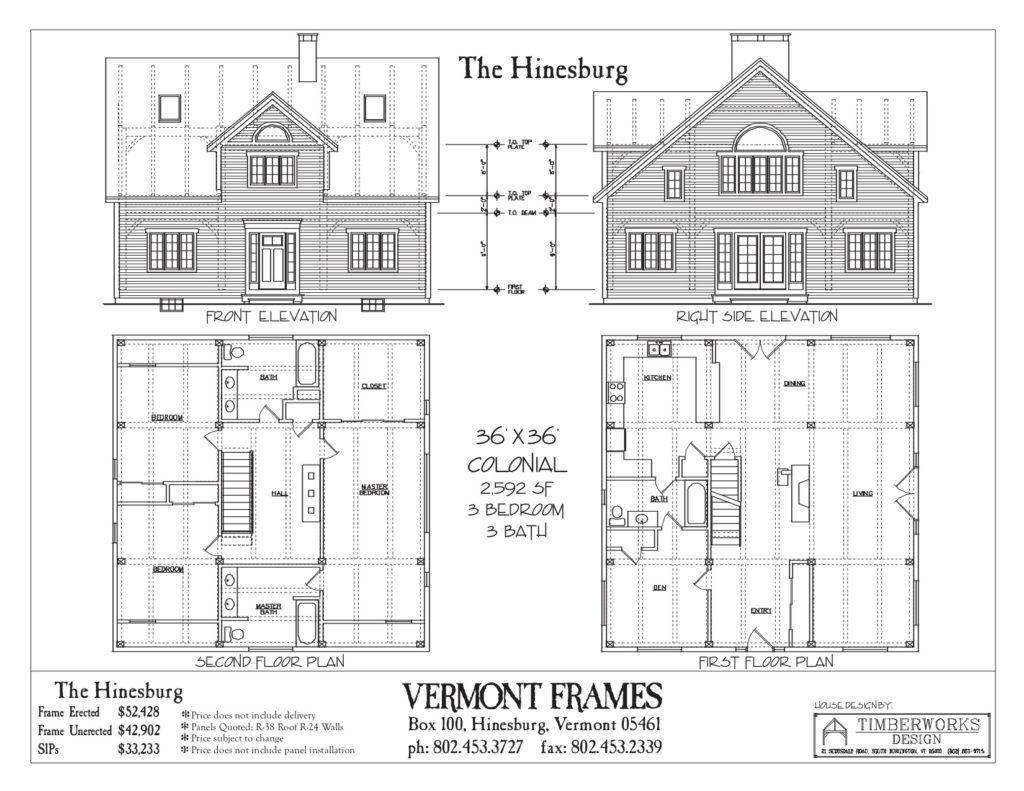 Hinesburg Cape floor plan