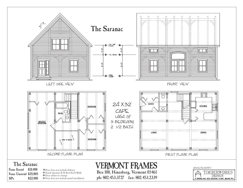 Saranac Cape floor plan