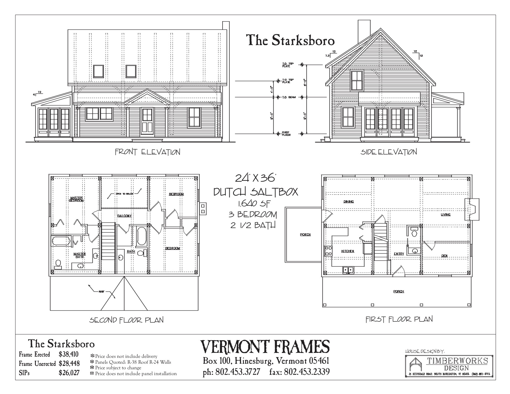 Starksboro Dutch Saltbox/Cape floor plan