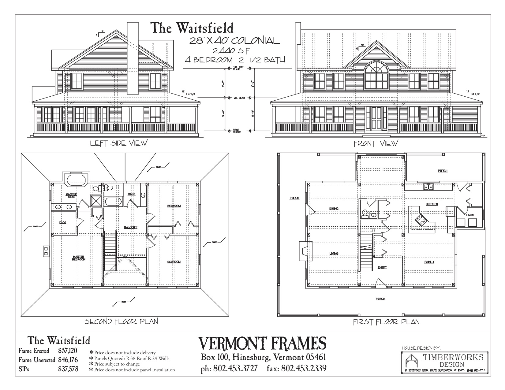 Waitsfield Colonial floor plan
