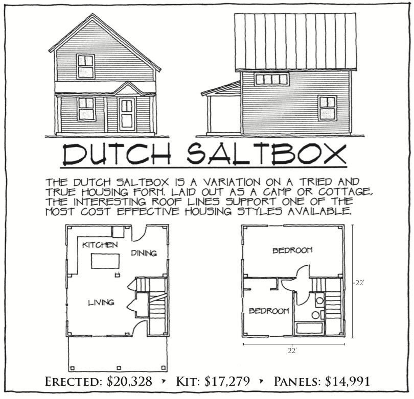 Dutch Saltbox floor plan