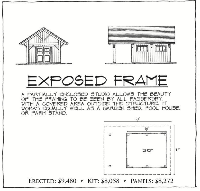 Exposed Frame Cape floor plan