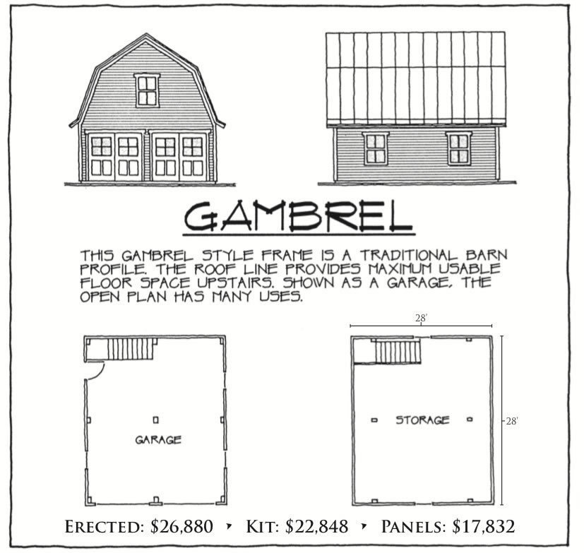 Gambrel floor plan