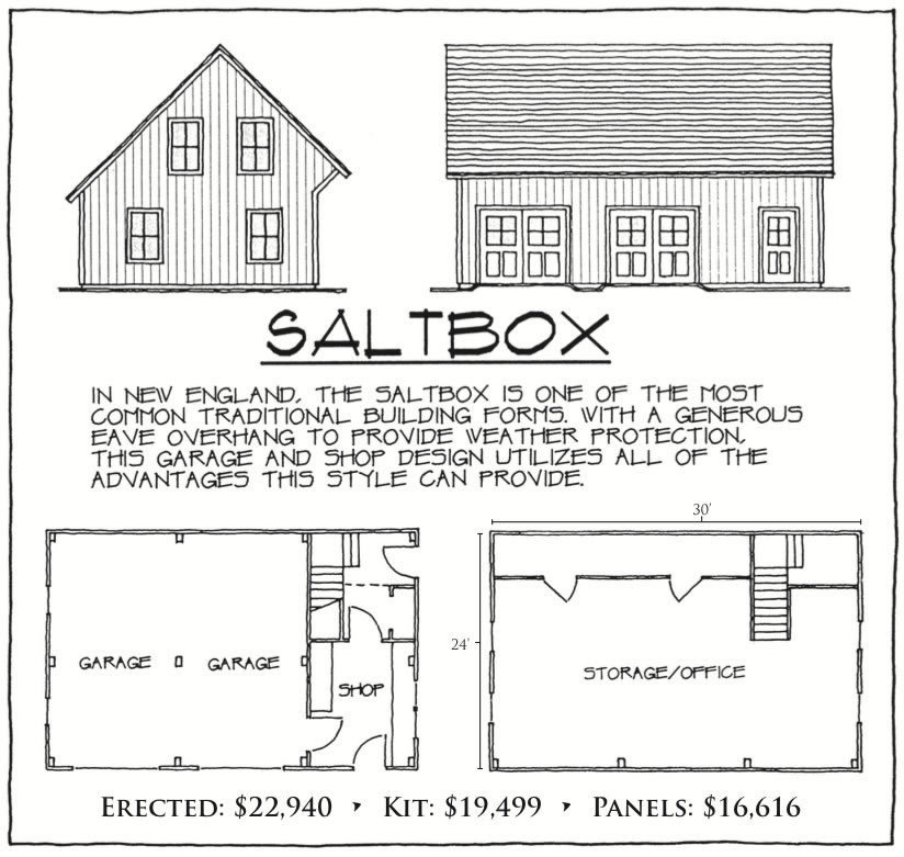 Saltbox floor plan