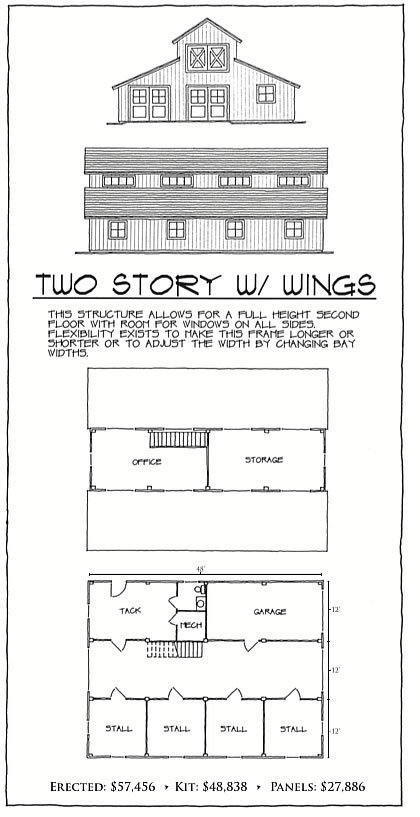 Two Story with Wings floor plan