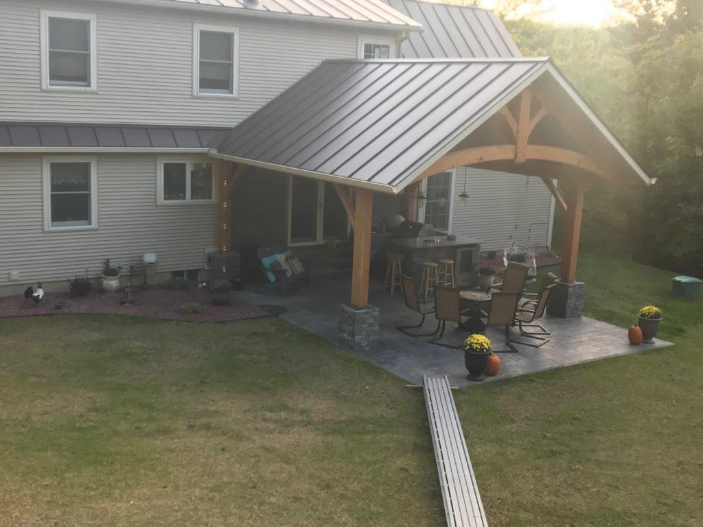 Finished timber frame pavilion
