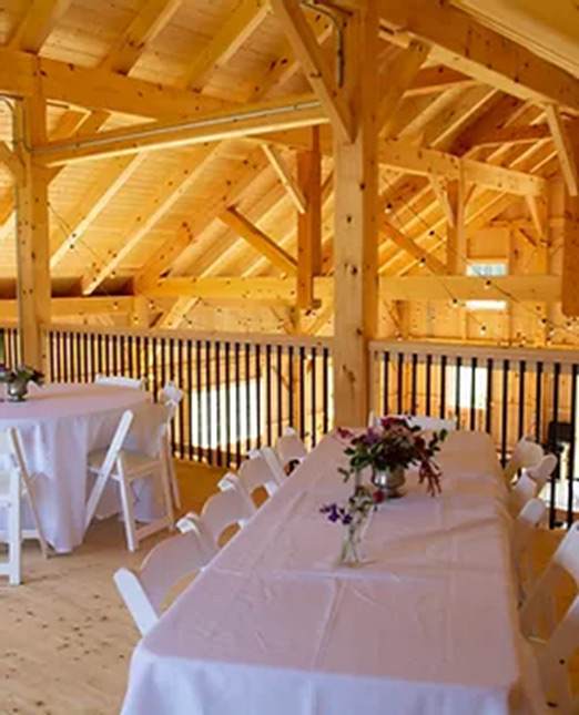 Interior of a finished barn