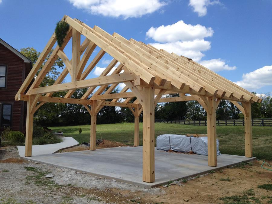 Timber frame pavilion structure