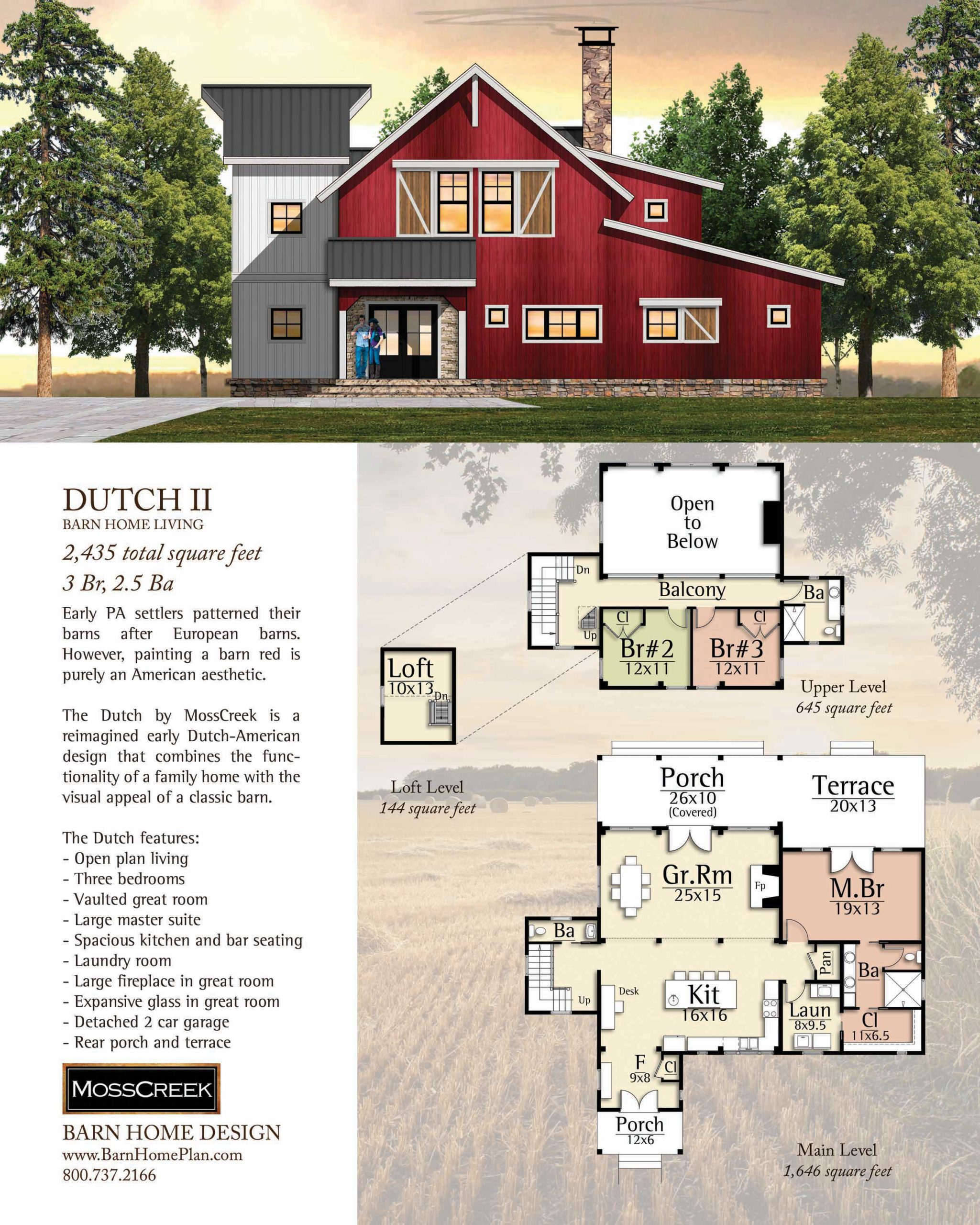 Mosscreek Dutch II Floorplan