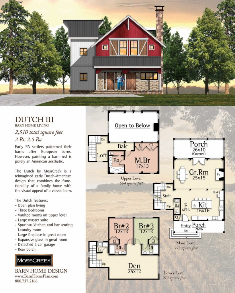 Mosscreek Dutch III Floorplan