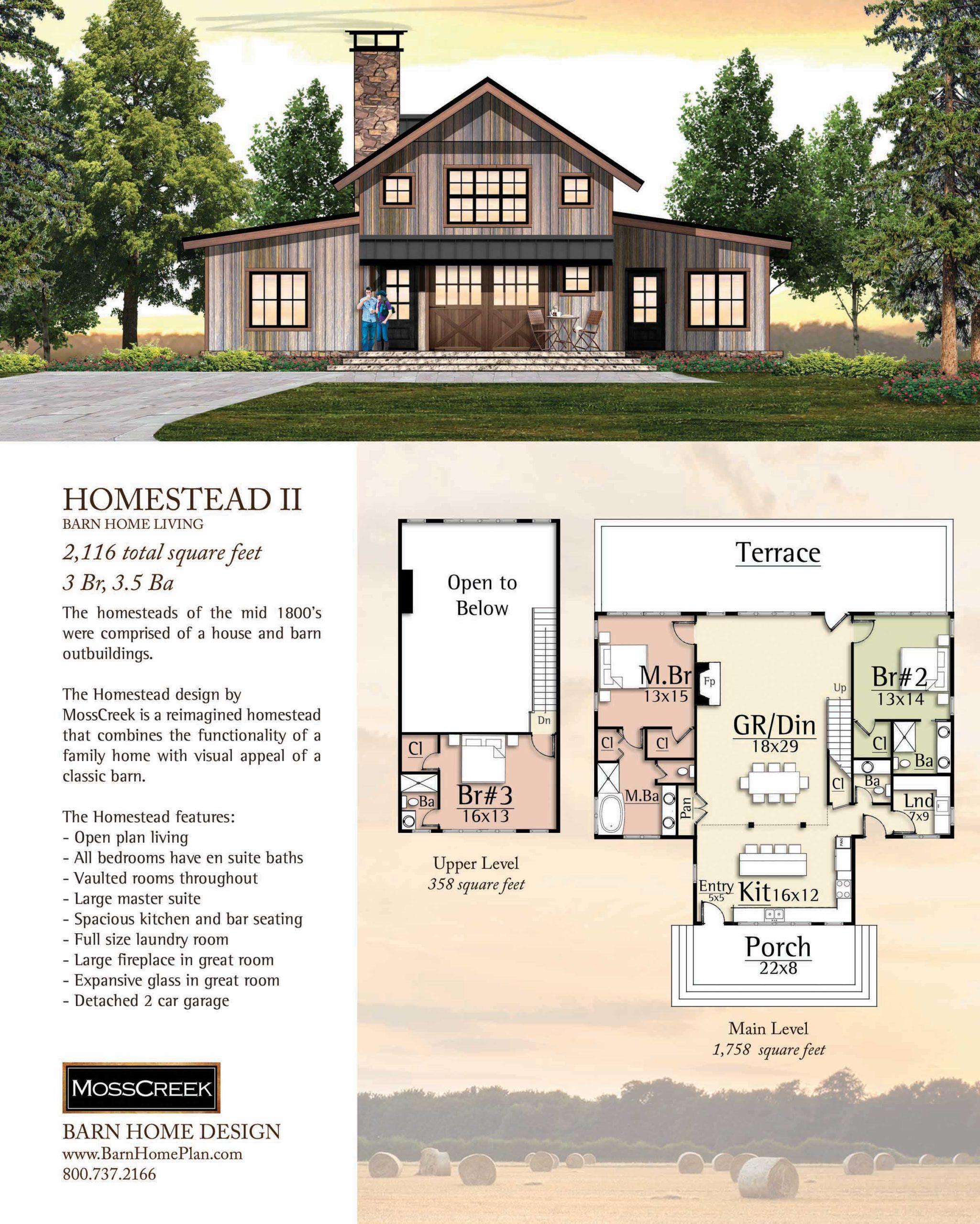 Mosscreek Homestead II Floorplan