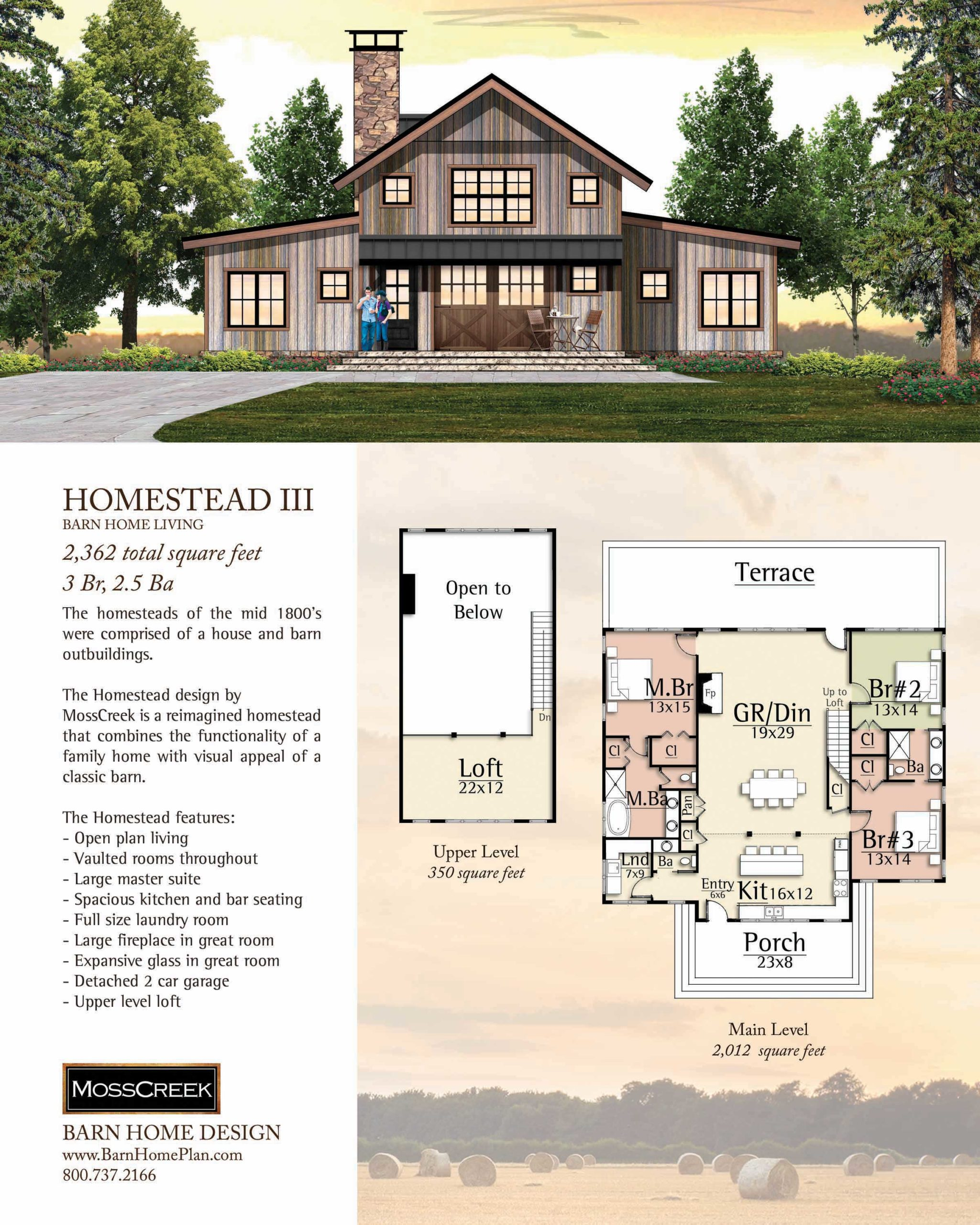 Mosscreek Homestead III Floorplan