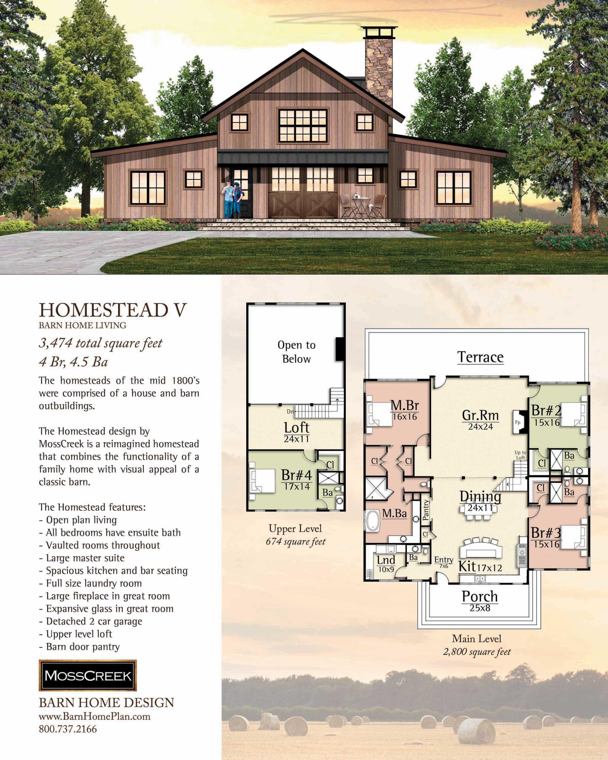 Mosscreek Homestead V Floorplan