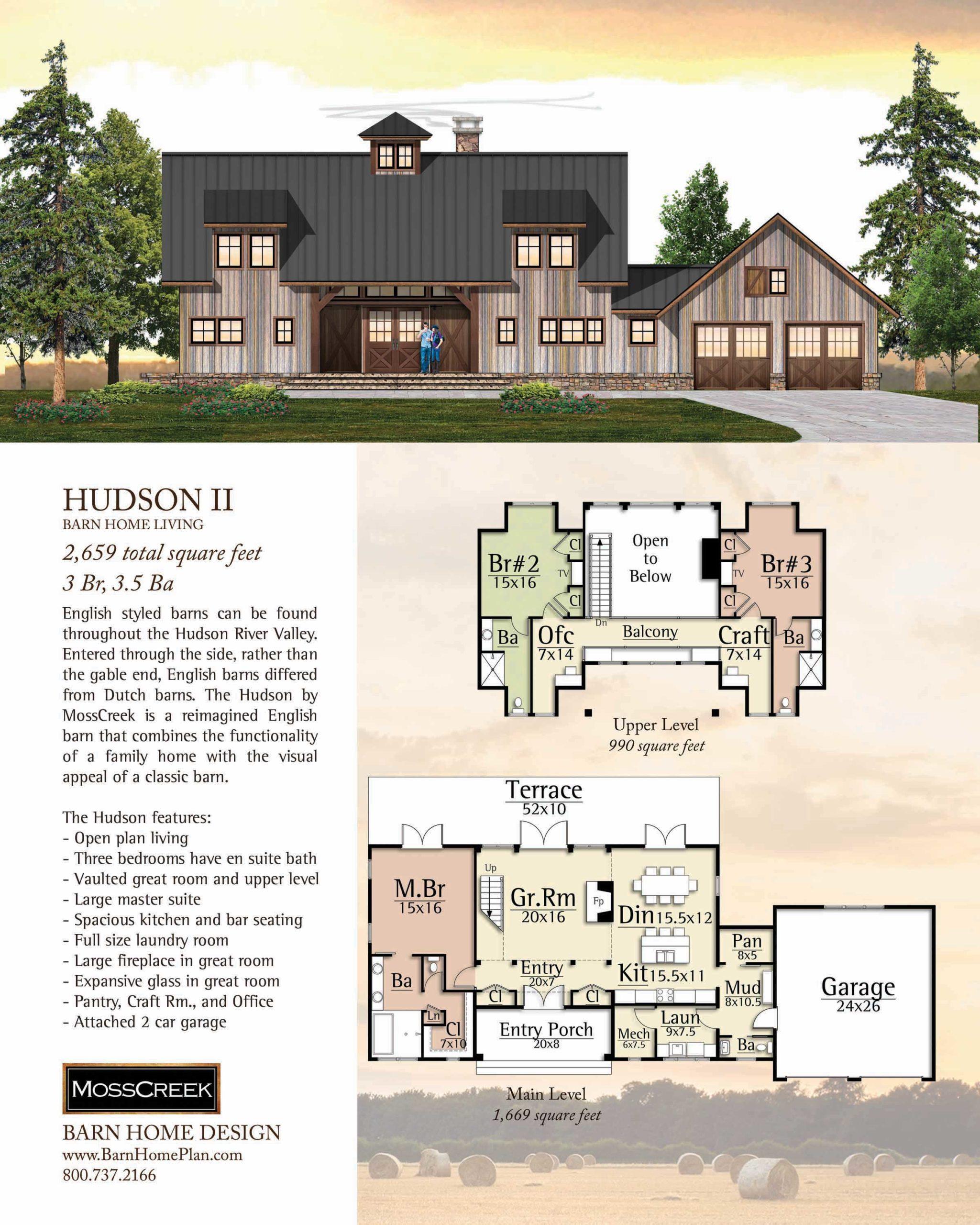 Mosscreek Hudson II Floorplan