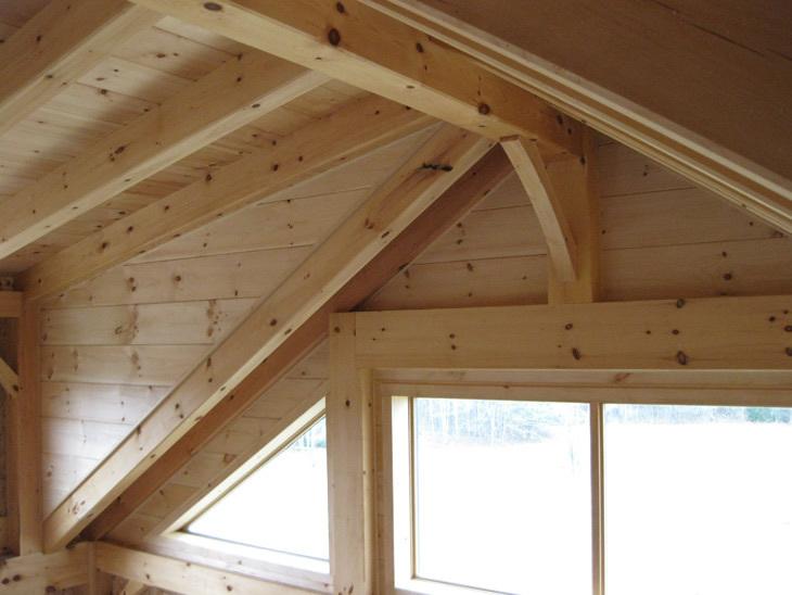 Timber frame custom cape interior